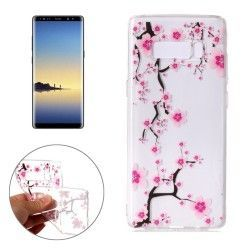 Samsung Galaxy Note 8 - hoes, cover, case - TPU - Transparant - Bloesem