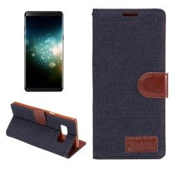 Samsung Galaxy Note 8 - Flip hoes, cover, case - PU Leder - TPU - Stof - Denim