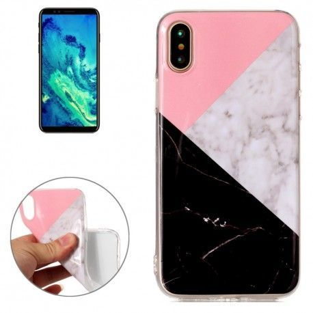 iPhone X - hoes, cover, case - TPU - Marmer print 3 kleuren