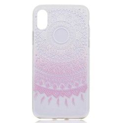 iPhone X - hoes, cover, case - TPU - Transparant - Bloem