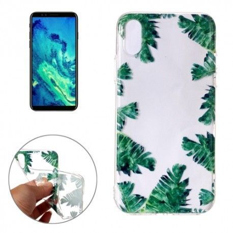iPhone X - hoes, cover, case - TPU - Transparant - Bananenblad