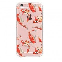 iPhone 8 Plus / 7 Plus (5.5 Inch) - hoes, cover, case - TPU - Transparant - Koi Vissen