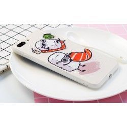 iPhone 8 Plus / 7 Plus (5.5 Inch) - hoes, cover, case - TPU - Funny Sushi