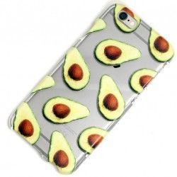 iPhone 8 / 7 (4.7 Inch) - hoes, cover, case - TPU - Transparant - Advocado
