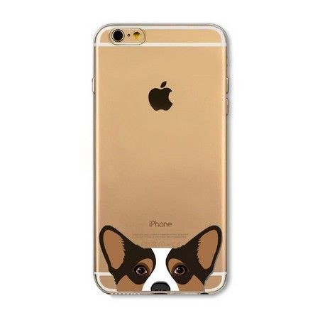 iPhone 6(S) (4.7 inch) - hoes, cover, case - TPU - Transparant - Hond