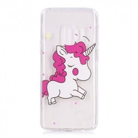 Samsung Galaxy S9 - hoes, cover, case - TPU - Transparant - Unicorn