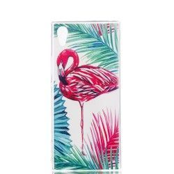 Sony Xperia XA1 - hoes, cover, case - TPU - Flamingo