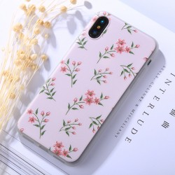 iPhone X - hoes, cover, case - TPU - Bladeren - Groen