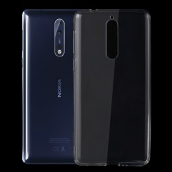 Nokia 8 - hoes, cover, case - TPU - Transparant