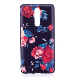 Nokia 8 - hoes, cover, case - TPU - Bloemen