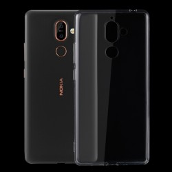 Nokia 7 Plus - hoes, cover, case - TPU - Transparant