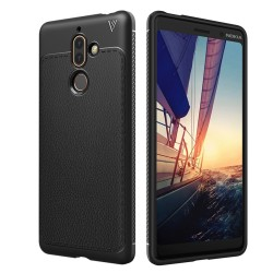 Nokia 7 Plus - hoes, cover, case - TPU - Zwart