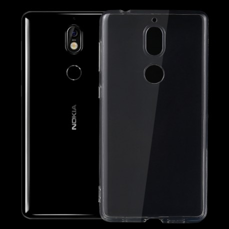 Nokia 7 - hoes, cover, case - TPU - Transparant