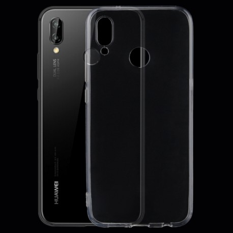 Huawei P20 Lite - hoes, cover, case - TPU - Transparant