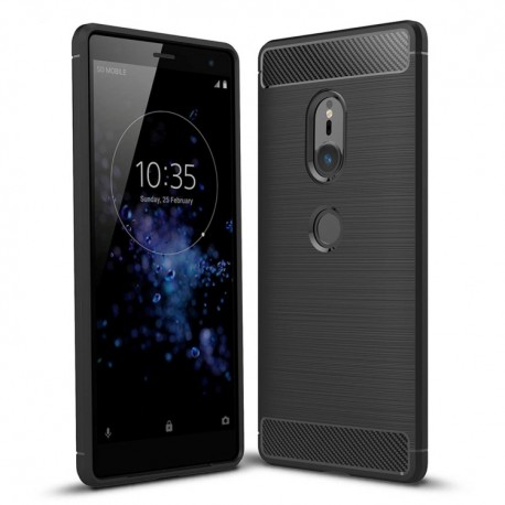 Sony Xperia XZ2 - hoes, cover, case - TPU - Zwart