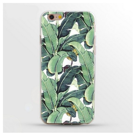 iPhone 8 / 7 (4.7 Inch) - hoes, cover, case - TPU - Bananenbladeren