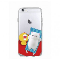 iPhone 8 / 7 (4.7 Inch) - hoes, cover, case - TPU - 3D Squishy Kat
