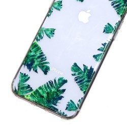 iPhone XR (6,1 inch) - hoes, cover, case - TPU - Transparant - Bladeren