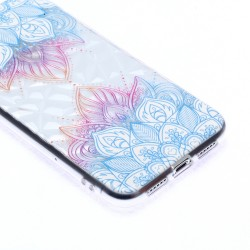 iPhone XR (6,1 inch) - hoes, cover, case - TPU - Blauwe bladeren