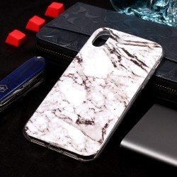 iPhone XS Max (6,5 inch) - hoes, cover, case - TPU - Marmer