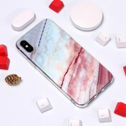 iPhone XS Max (6,5 inch) - hoes, cover, case - TPU - Kleurige Marmer