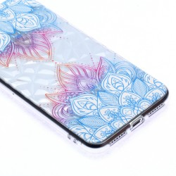 iPhone XS Max (6,5 inch) - hoes, cover, case - TPU - Blauwe Bladeren