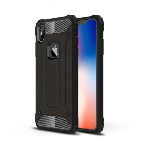 iPhone XS Max (6,5 inch) - hoes, cover, case - TPU + PC - Extra bescherming - Zwart