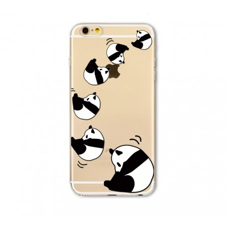 iPhone 8 / 7 (4.7 Inch) - hoes, cover, case - TPU - Transparant - Panda