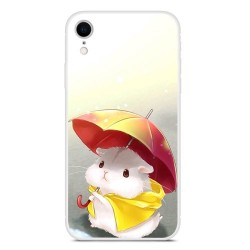 iPhone XR (6,1 inch) - hoes, cover, case - TPU - Hamster met paraplu