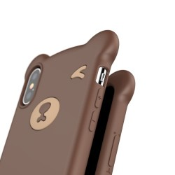 BASEUS - iPhone XS Max (6,5 inch) - hoes, cover, case - Siliconen - Beer