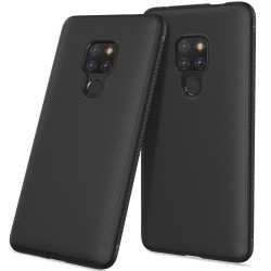 Huawei Mate 20 - hoes, cover, case - TPU - Twill textuur - Zwart