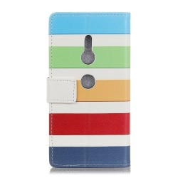 Sony Xperia XZ3 - Flip hoes, cover, case - TPU - PU Leder - Strepen