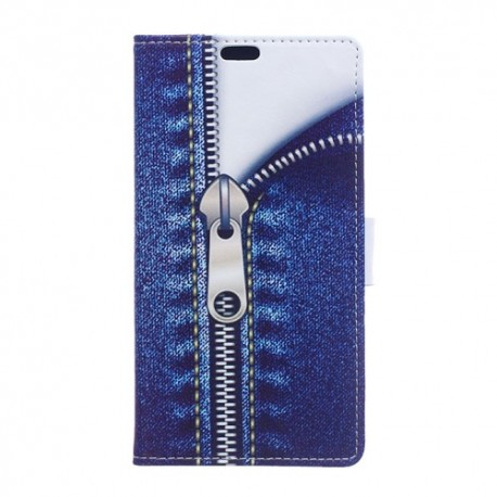 Sony Xperia XZ3 - Flip hoes, cover, case - TPU - PU Leder - Jeans