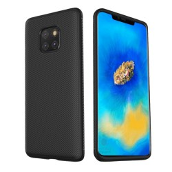 Huawei Mate 20 Pro - hoes, cover, case - TPU - Gestreepte textuur - Zwart
