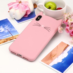 iPhone XS Max (6,5 inch) - hoes, cover, case - Siliconen - Kat