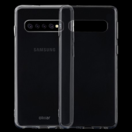 Samsung Galaxy S10 - hoes, cover, case - TPU - Transparant
