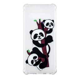 Samsung Galaxy S10 - hoes, cover, case - TPU - Transparant - Panda
