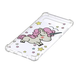 Samsung Galaxy S10 Plus - hoes, cover, case - TPU - Transparant - Unicorn