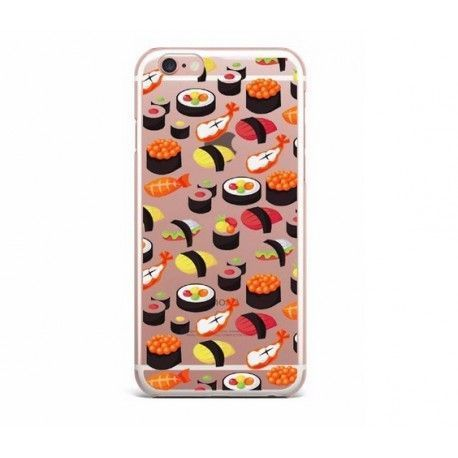 iPhone 8 / 7 (4.7 Inch) - hoes, cover, case - TPU - Transparant - Sushi