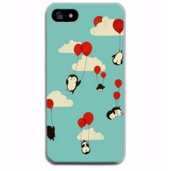 iPhone 8 / 7 (4.7 Inch) - hoes, cover, case - TPU - Vliegende Pinguïns