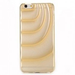 iPhone 6 Plus (5.5 inch) TPU ice cream butter transparant Champagne case cover hoes