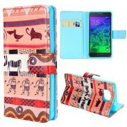 Samsung Galaxy Alpha Flip Cover, hoesje, case Animals