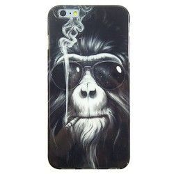 iPhone 6 Plus (5.5 inch) Smoking Monkey TPU Cover, hoesje, case
