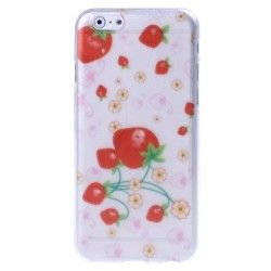 iPhone 6 Plus (5.5 inch) Strawberry TPU Cover, hoesje, case