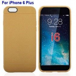 iPhone 6 Plus (5.5 inch) Mesh TPU Cover, hoesje, case Bruin