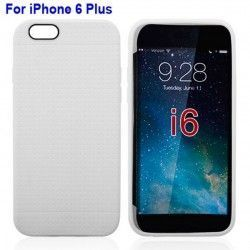 iPhone 6 Plus (5.5 inch) Mesh TPU Cover, hoesje, case wit