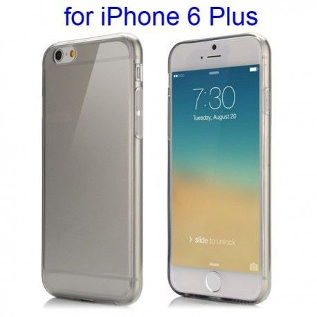 iPhone 6 Plus (5.5 inch) TPU Cover, hoesje, case zwart / transparant
