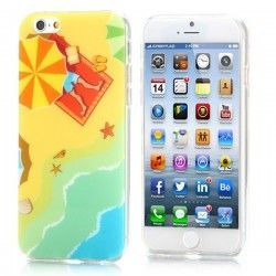 iPhone 6 (4.7 inch) beach TPU Cover, hoesje, case