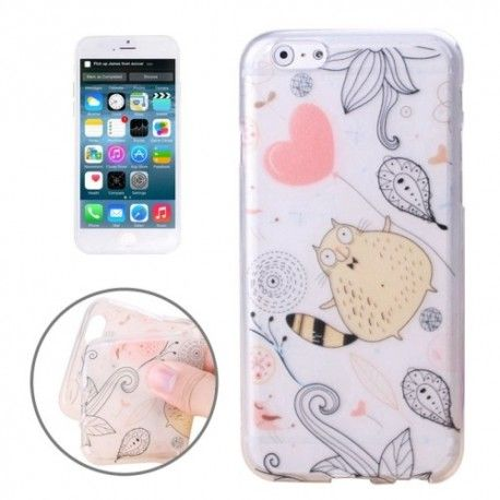 iPhone 6 (4.7 inch) Cartoon TPU Cover, hoesje, case transparant