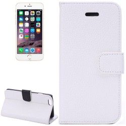 iPhone 6 Plus (5.5 inch) Flip Cover, hoesje, case + Card clots wit